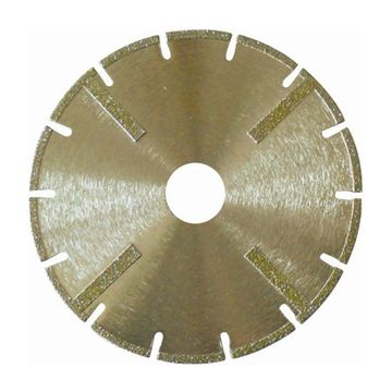 Electroplated Segmented Diamond Blade with Protectional Segment for Cutting Masonry