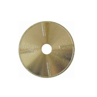 Electroplated Continuous Rim Diamond Blade with Protectional Segment for Cutting Masonry